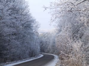 icy road Photo: Mrs. Hajnalka Ardai